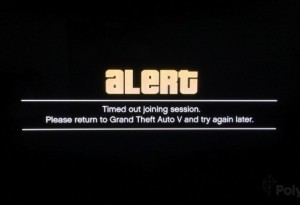 The image many received during the first week of the less than stellar launch of GTA Online