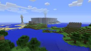 A view from our base taken from the world's central island, the eponymous Game Island.